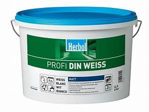 Gut Deckende Wandfarbe : herbol profi din weiss 12 5 liter gut deckende ~ Watch28wear.com Haus und Dekorationen