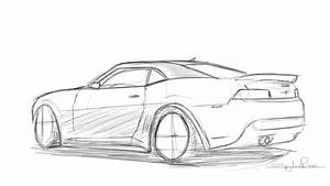 Drawing a 2014 Camaro Z28 - YouTube