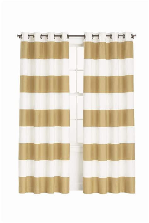 Gold And White Striped Curtains by Gold Striped Curtains Decorating