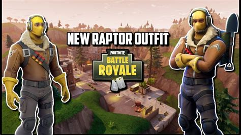 raptor outfit  fortnite battle royale youtube