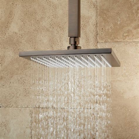 square ceiling mount shower curtain rod bathroom