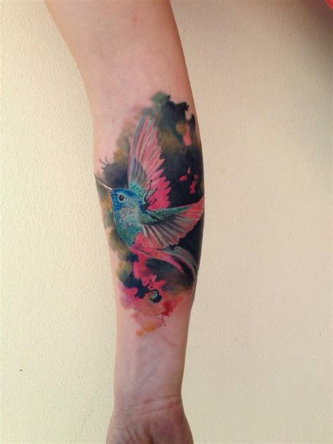 bird watercolor tattoo  ondrash design