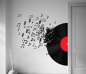 music notes wall art decals vinyl record ideas home With music wall art