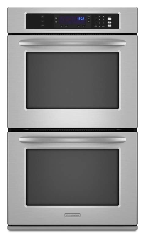 kitchenaid kebksss  double electric wall oven  thermal ovens closed door broil