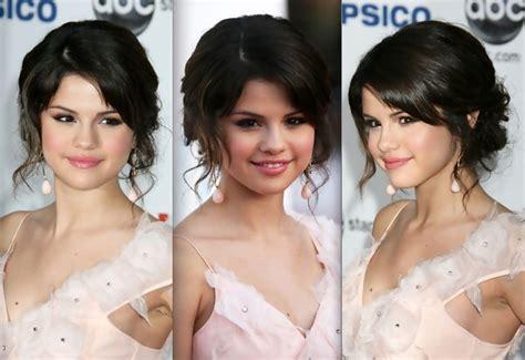 Selena gomez pelo corto selena gomez hair prom hair updo homecoming hairstyles wedding hairstyles engagement hairstyles bun hair celebrity hairstyles down hairstyles. Sweet Bun - Selena Gomez Prom Hairstyle Ideas - StyleBistro