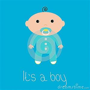 Baby Boy Card Design Baby Shower Card Its A Boy Flat Design Style Stock
