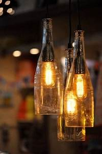 Photo of wine bottle pendant light kits