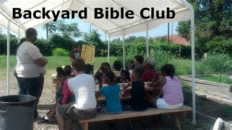 Backyard Bible Club Curriculum by Community Restoration More Than Carpentry Christian