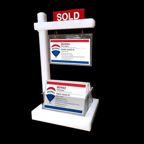 thicker design mini real estate sign business card