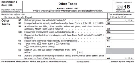 completing form 1040 the face of your tax return us
