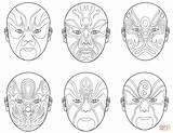 Opera Mascaras Desenho Colorir Desenhos Colorare Chinese Masks Coloring Disegni Imprimer Chinois Teatro Dessin Coloriage Theatre sketch template