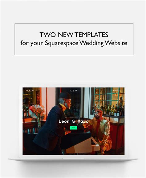 Show + Tell Your Love Story With New Website Templates