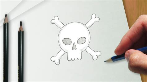 How to draw a pirate skull YouTube