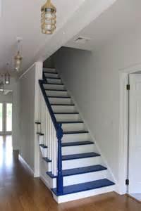 Escalier Gris Bleu by Escalier En Bois Peint Creteil 26 Badcreditautoloan Info