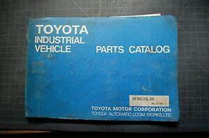 Toyota 5fgc28 5fgc30 Forklift Parts Manual Book Catalog