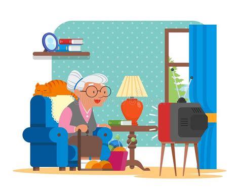 Grandma Sitting In Her Chair