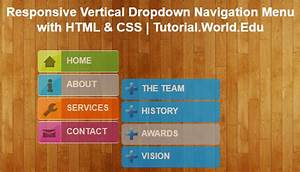 Create Responsive Vertical Dropdown Navigation Menu With