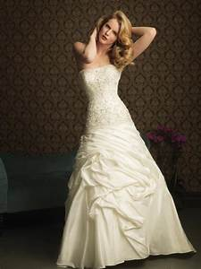 Ivory strapless beaded embroidery a line princess 2011 for Ivory wedding dress