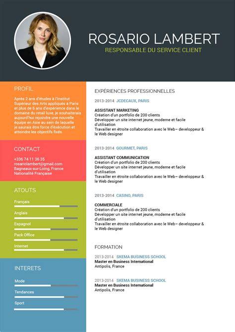 Exemple Mise En Forme Cv by Mise En Page Cv Exemple Cv 233 Tudiant Lusocarrelage