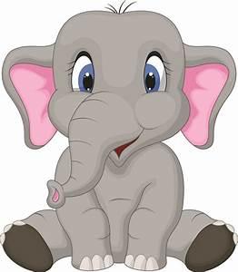 lovely cartoon elephant vector material 03 - Vector Animal