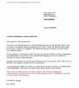 Kündigungsfrist Mietvertrag Beispiel : fristlose k ndigung durch arbeitgeber schweiz vorlage muster ~ Yasmunasinghe.com Haus und Dekorationen