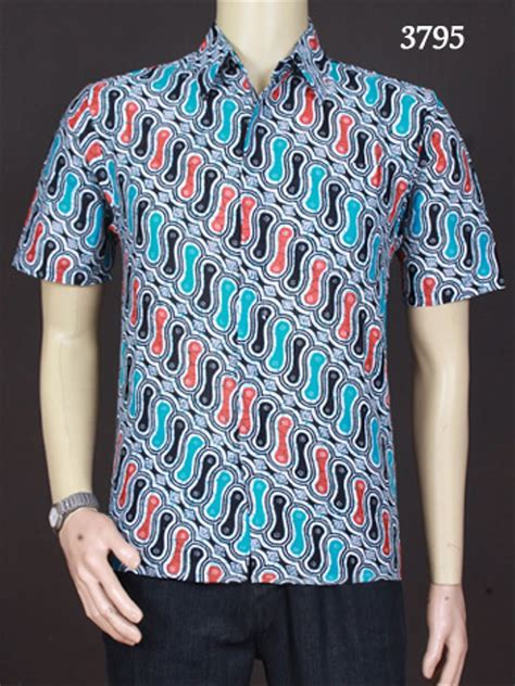 jual baju batik batik pria kemeja batik terbaru 3795 di lapak assikah batik assikah