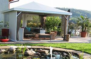 pavillon mit festem dach metall pavillon mit festem dach With markise balkon mit versace tapete palmen