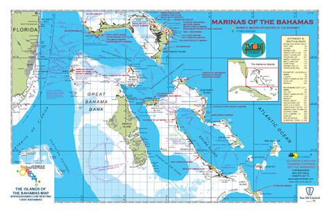 Official Boating and Fishing Map of The Bahamas now