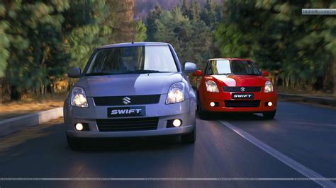 Suzuki Swift Car On The Road Wallpapers And Images