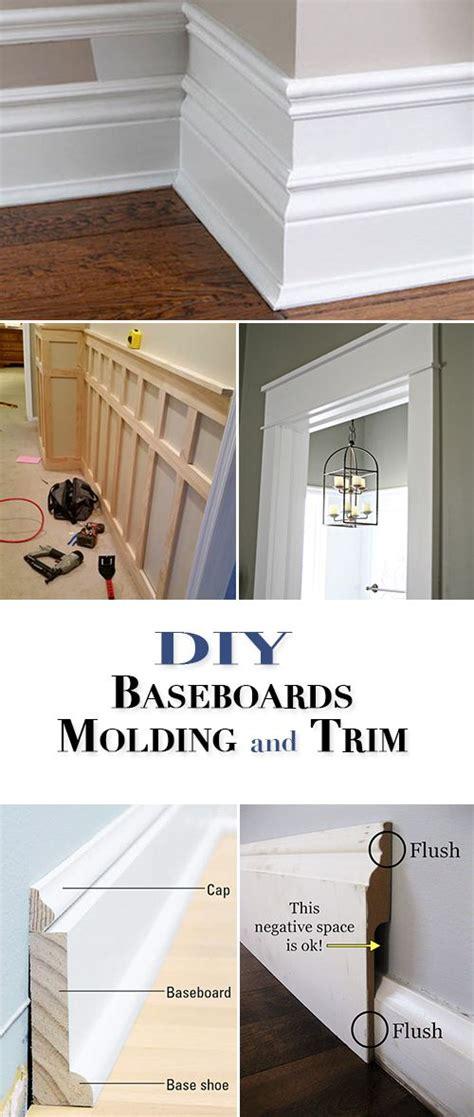 diy baseboards molding  trim wood trim home