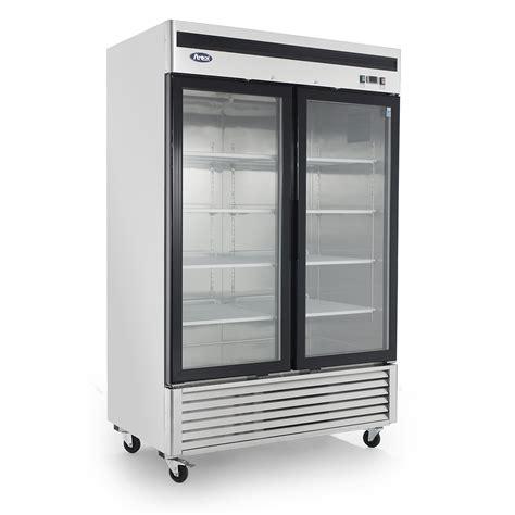 glass door fridge mcf8707 bottom mount 2 two glass door refrigerator