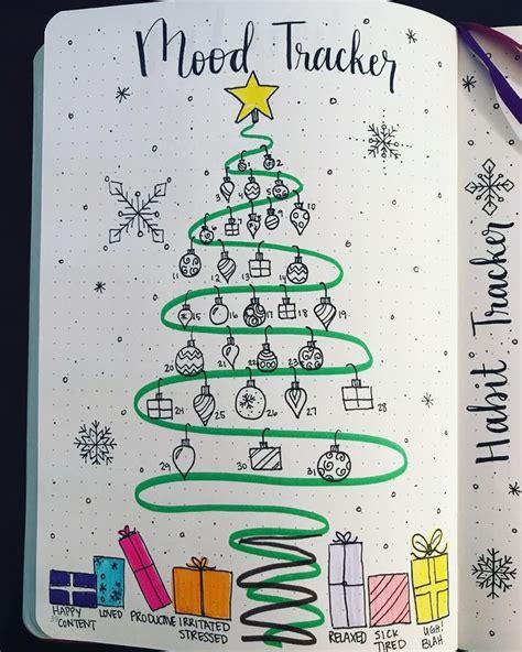 bullet journal mood tracker christmas bullet journal