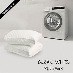 wash and whiten pillows in washing machine theindianspot With can you put a pillow in the washing machine