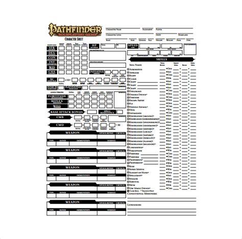 character sheet template character sheet template 8 free pdf documents free premium templates