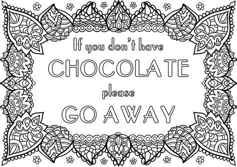 Kleurplaat Chocolade by Chocolade Tekst Kleurplaten Chocolade En