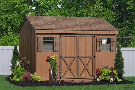 10x20 Saltbox Wood Storage Shed by Buy A Outdoor Vinyl Sided Storage Shed From The Amish
