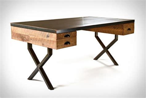 bureau bois acier bureau en chêne et acier walter desk de richard velloso