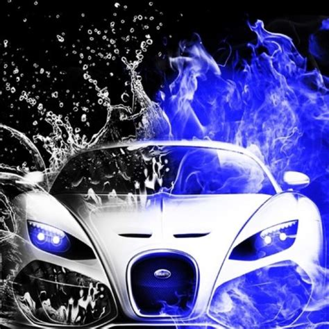 Cool Cars Agua Azul-blanco Y Negro