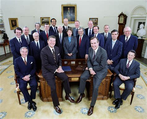 Bush Administration Cabinet by Cabinet Ronald Presidential Library National