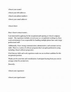 cover letter help receptionist resume top essay With cover letters for receptionist position