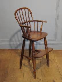 sold 19th century ash beech and elm child s high chair