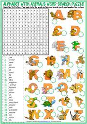 alphabet esl vocabulary worksheets