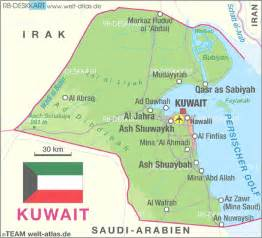 Map of Kuwait - Map in the Atlas of the World - World Atlas