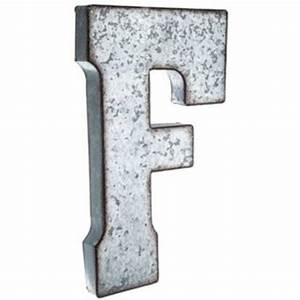 large galvanized metal letter f shop from hobby lobby With metal letters with lights hobby lobby
