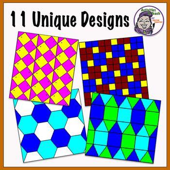 tessellation printable worksheets  activities  teach tpt
