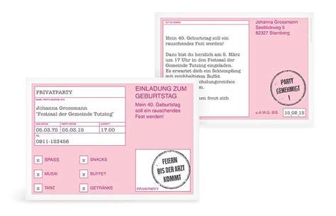 einladung zum  geburtstag einladungskarten gestalten