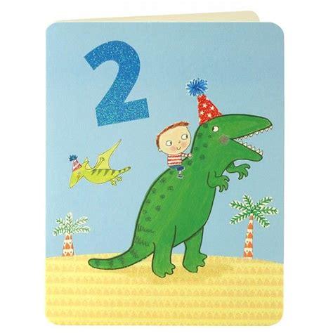 boy dinosaur age 2 birthday card karenza paperie