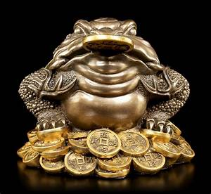 Feng Shui Frosch : feng shui figur geld frosch gl cksbringer geldsegen buddha geschenk ~ Sanjose-hotels-ca.com Haus und Dekorationen