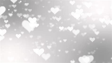 abstract white flying love hearts stock footage video