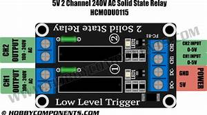 5v 2 Channel 240v Ac Solid State Relay